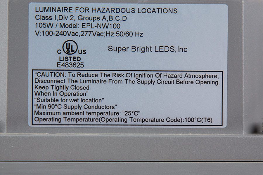 100 Watt Led Explosion Proof Light For Class 1 Division 2