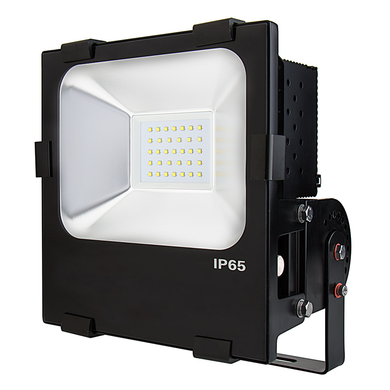100 watt high power led flood light fixture in cool white. Black Bedroom Furniture Sets. Home Design Ideas