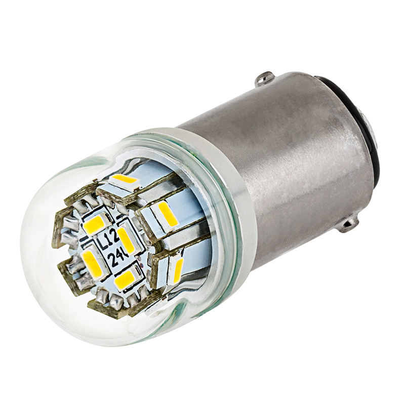 1142 Led Boat And Rv Light Bulb W Stock Cover 12 Smd Led Ba15d Retrofit 107 Lumens Ba15