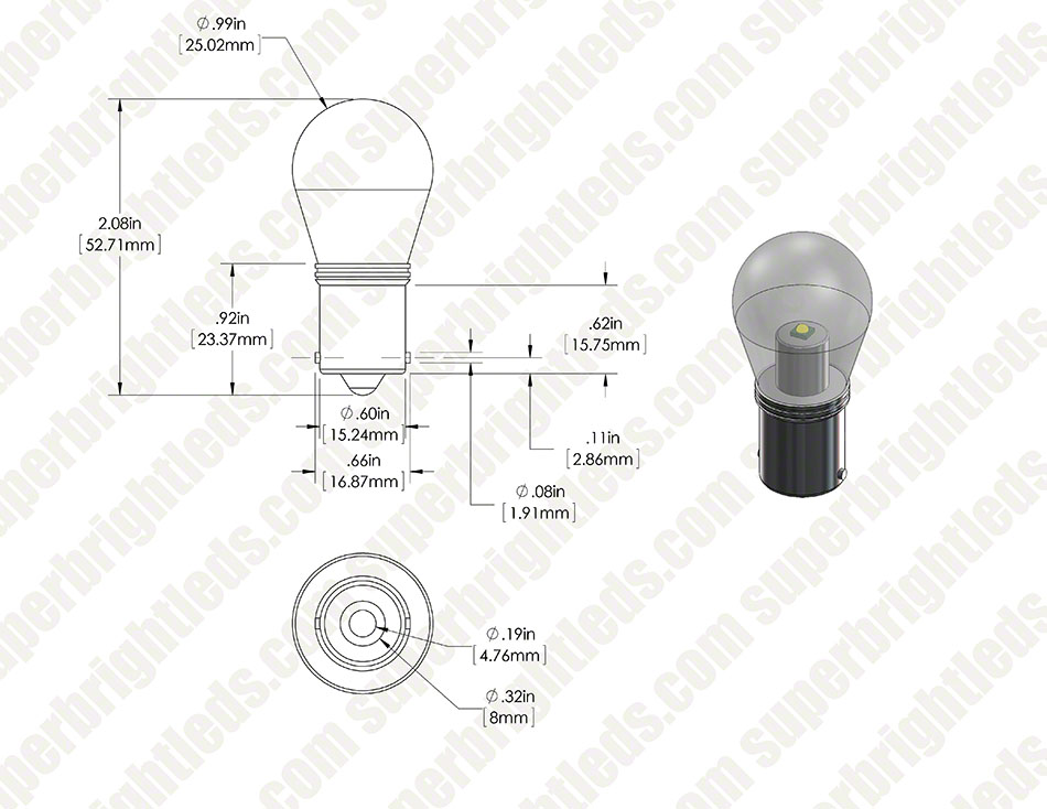 1156 led bulb w   stock cover - 1 high power led