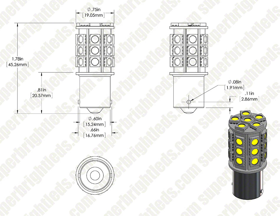 1156 cw27 t assembly digimark 1156 led bulb 27 smd led tower ba15s retrofit 420 lumens 1157 wiring diagram at crackthecode.co