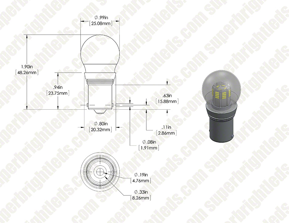 1156 LED Bulb - Single Intensity 36 High Power LEDs