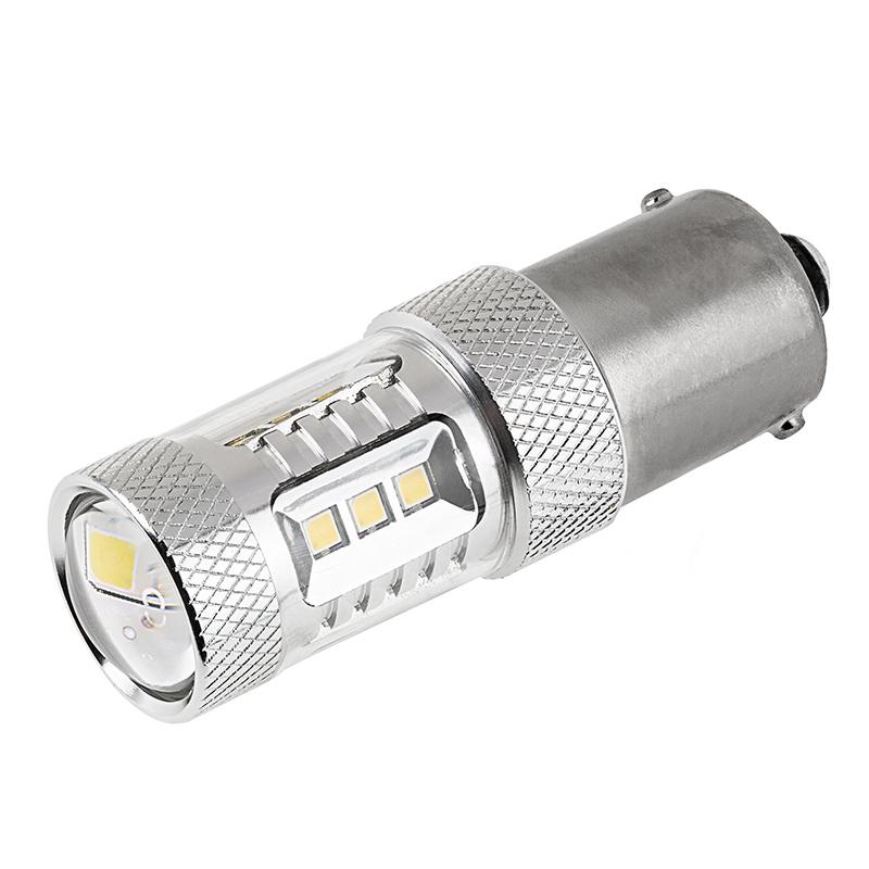 1156 led bulb w focusing lens 15 smd led tower ba15s. Black Bedroom Furniture Sets. Home Design Ideas