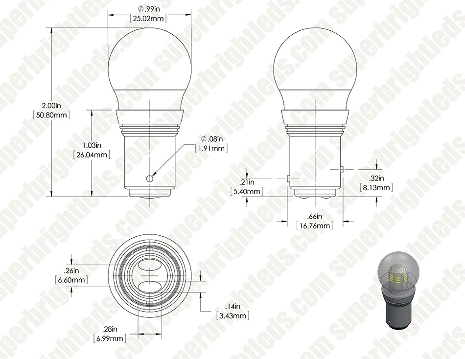1157 LED Bulb - Dual Intensity 36 High Power LEDs