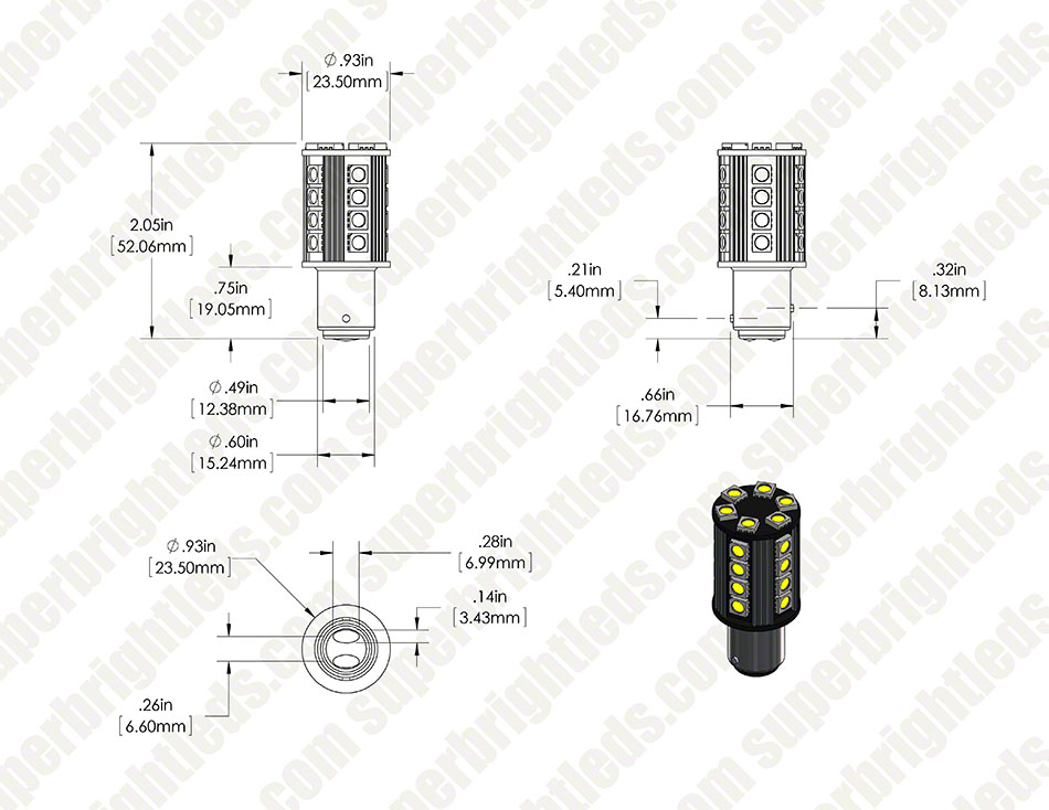 1157 w26 cbt main body digimark 1157 can bus led bulb dual function 26 smd led tower bay15d Basic Electrical Wiring Diagrams at couponss.co