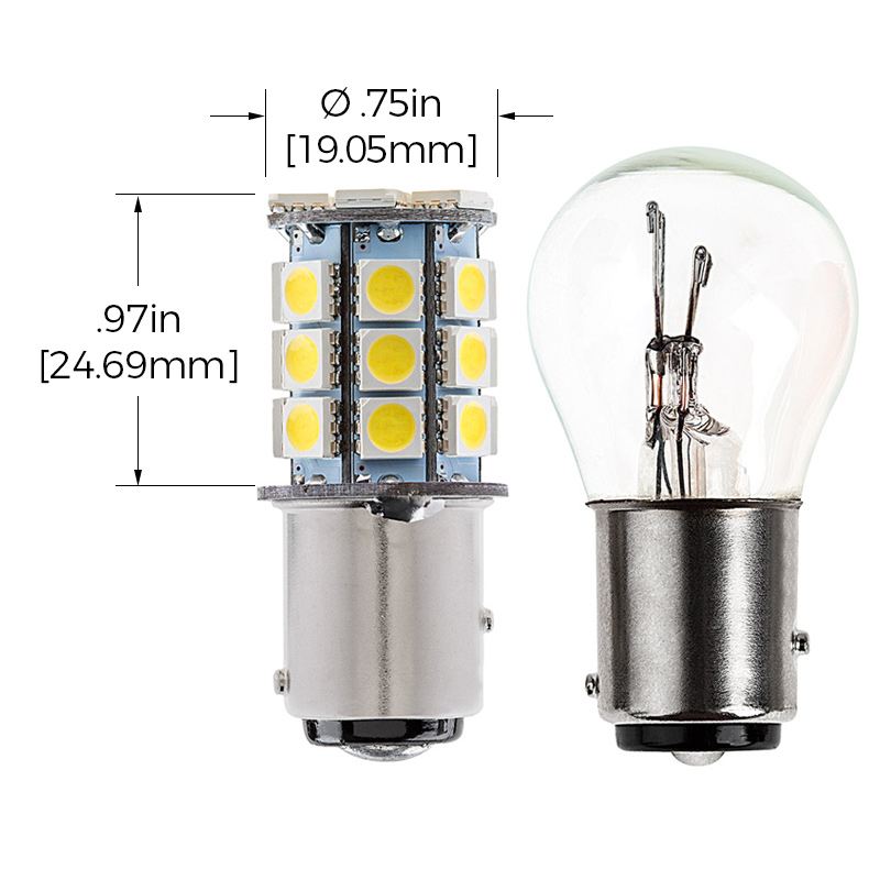 1157 x27 t car measurements 1157 led bulb dual function 27 smd led tower bay15d retrofit Basic Electrical Wiring Diagrams at couponss.co