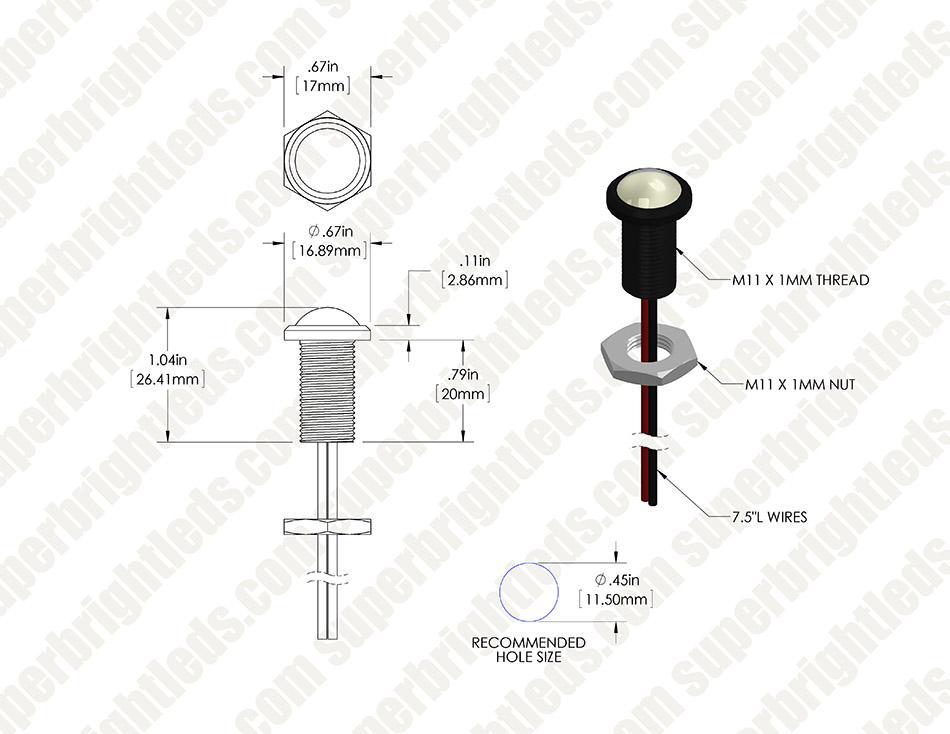 bolt beam 12mm led light