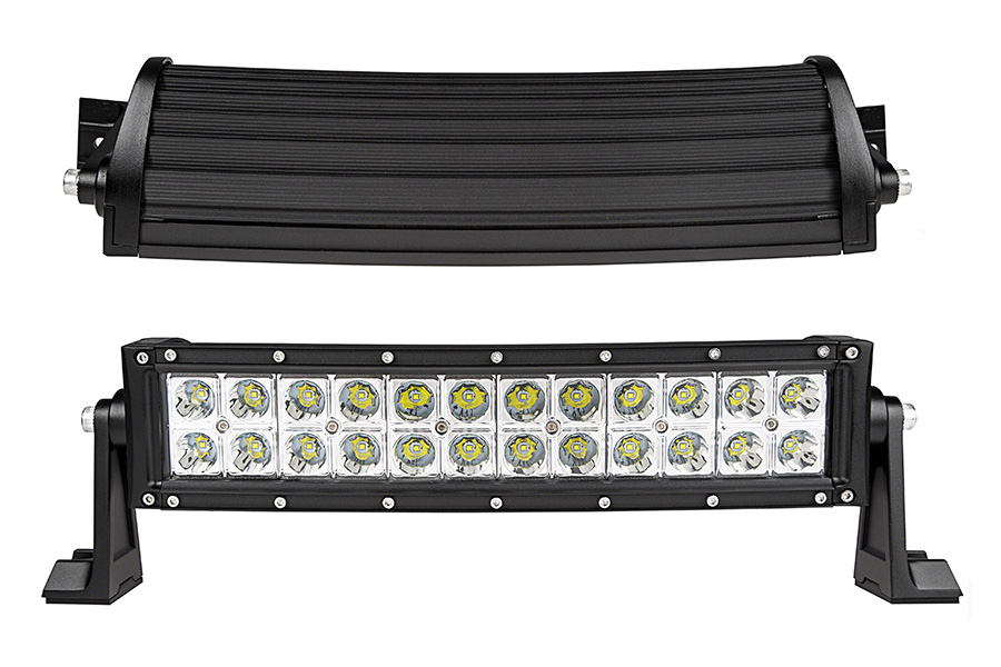 14 curved off road led light bar 53w 5040 lumens led light 14 curved off road led light bar 72w front top view mozeypictures Gallery
