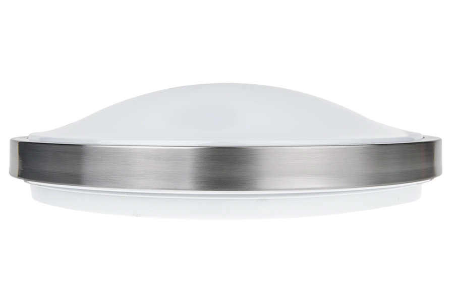 14 flush mount led ceiling light w brushed nickel housing 100 14 brushed nickel dimmable led flush mount ceiling light profile view aloadofball Gallery