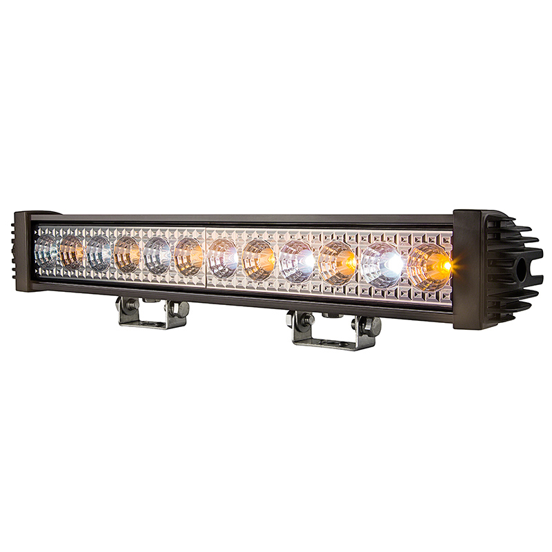 18 amberwhite led off road light bar 24w 2750 lumens super 18 amberwhite led off road light bar 24w aloadofball Choice Image