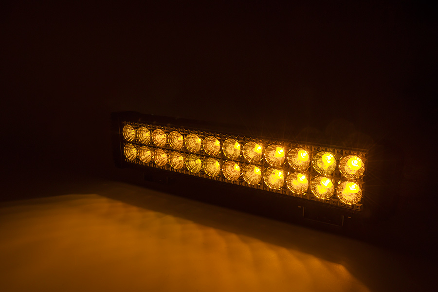 18 Dual Row Off Road Amber LED Light Bar 45W 1 950 Lumens Special
