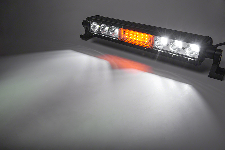18 off road led light bar w integrated amber led strobe. Black Bedroom Furniture Sets. Home Design Ideas