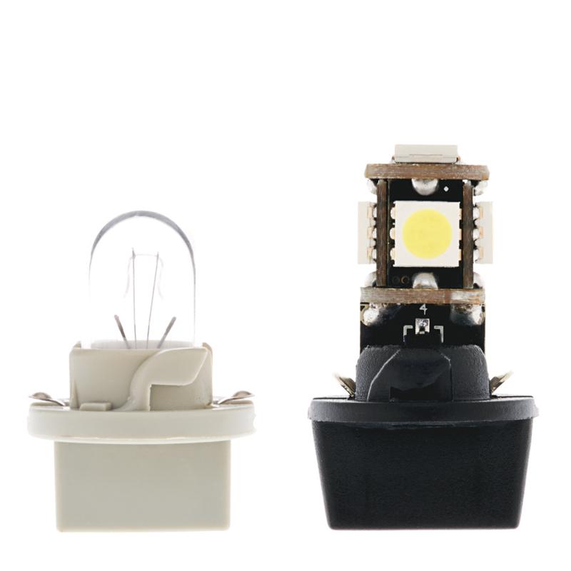 194 Led Bulb W Socket 5 Smd Led Miniature Wedge