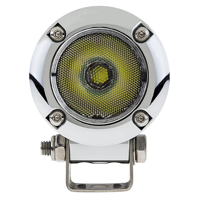 led light pod 2 round led off road work light 7w 700 lumens super bright leds. Black Bedroom Furniture Sets. Home Design Ideas