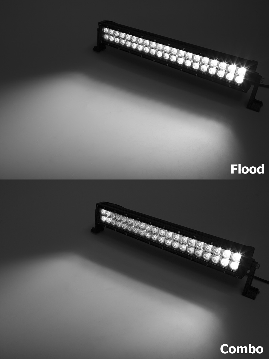 20 off road led light bar 60w 7 600 lumens super. Black Bedroom Furniture Sets. Home Design Ideas