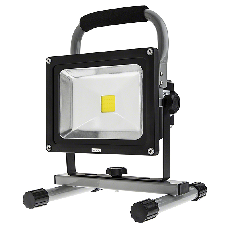 20w portable high powered rechargeable led work light. Black Bedroom Furniture Sets. Home Design Ideas