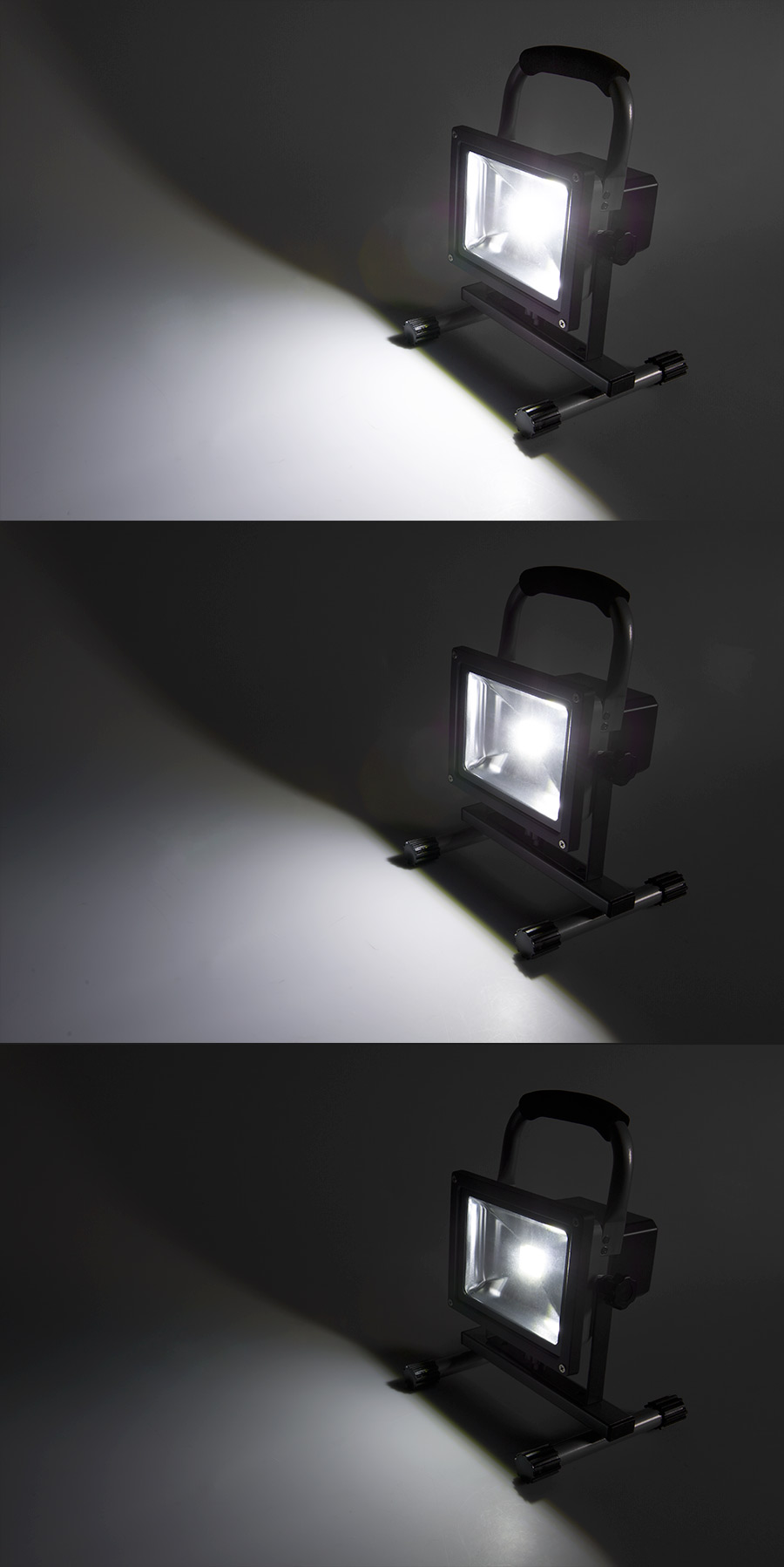 20W Portable Rechargeable LED Work Light - Dimmable - 7000K - 1,400 Lumens LED Rechargeable ...