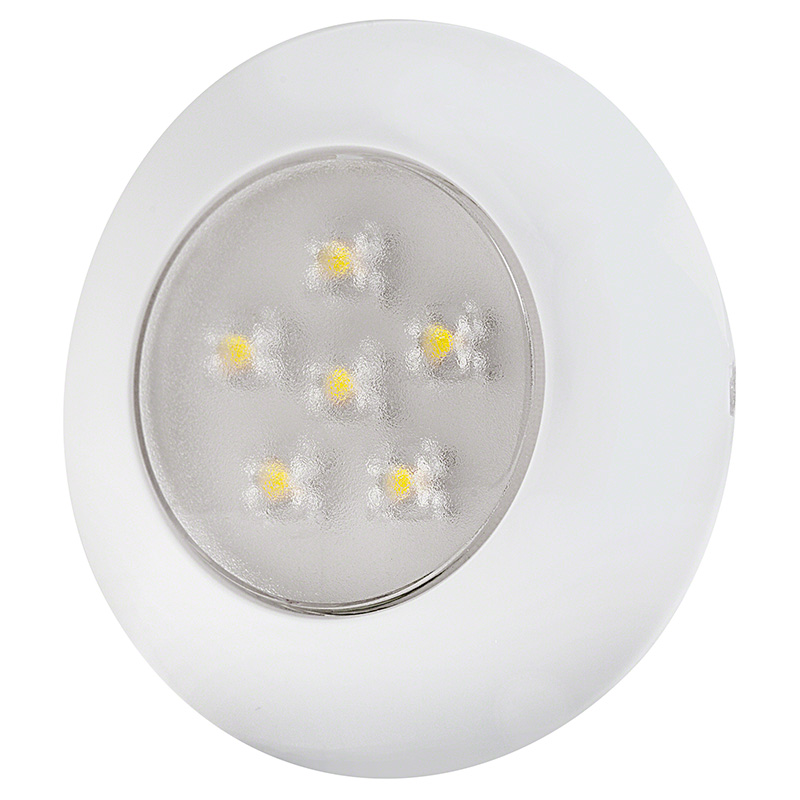 "3"" Round Dome Light LED Fixture - 6 LEDs"