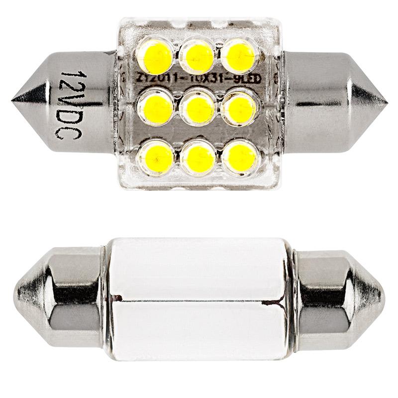 de3175 led boat and rv light bulb 9 led festoon 30mm 40 lumens super bright leds. Black Bedroom Furniture Sets. Home Design Ideas