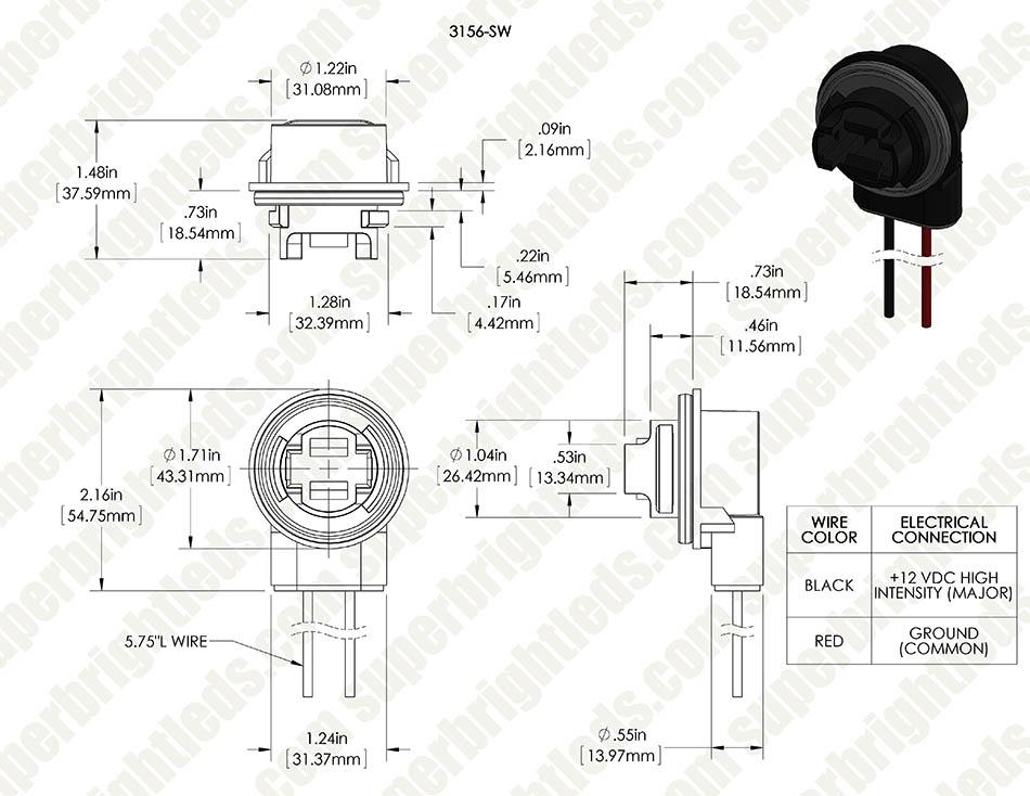 3157 socket wiring diagram 3156 3157 wedge base sockets wired super bright leds  3156 3157 wedge base sockets wired