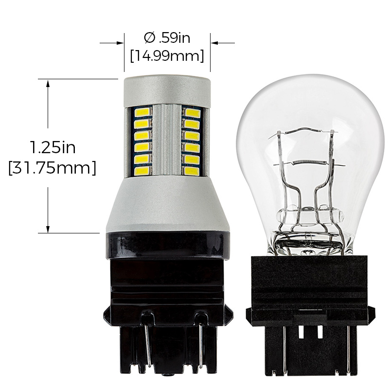 3156 3157 Can Bus Led Bulb Dual Function 30 Smd Led Tower Wedge Retrofit Rear Turn Signal