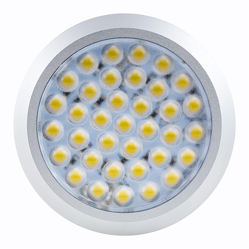 Led puck light 20 watt equivalent 180 lumens surfacepuck 36 high power smd led puck light fixture front view mozeypictures Images