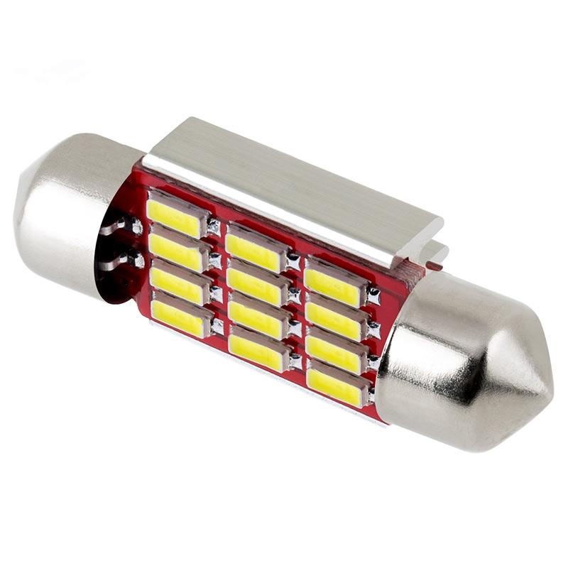 6418 Led Can Bus Bulb 12 Smd Led Festoon 36mm Festoon Base Led Bulbs Led Car Light Bulbs