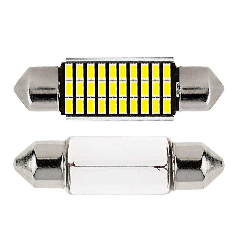 3910 Can Bus Led Bulb 30 Smd Led Festoon 39mm Festoon Base Led Bulbs Led Car Light Bulbs