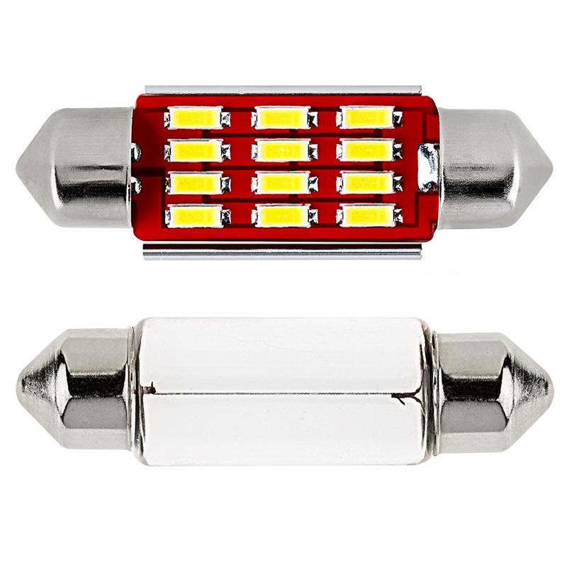 3910 Led Can Bus Bulb 12 Smd Led Festoon 39mm Festoon Base Led Bulbs Led Car Light Bulbs