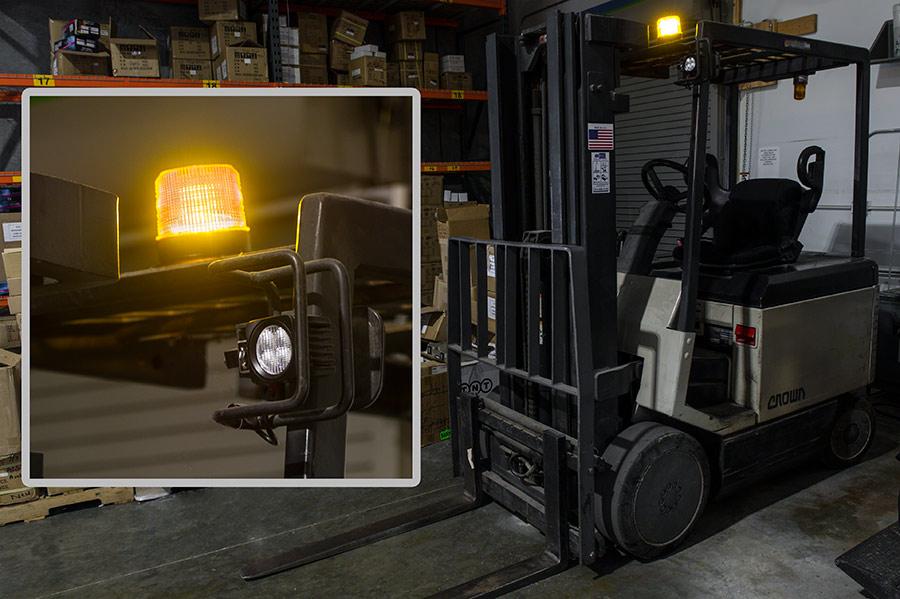 "4-3/4"" Amber LED Strobe Light Beacon with 10 LEDs"