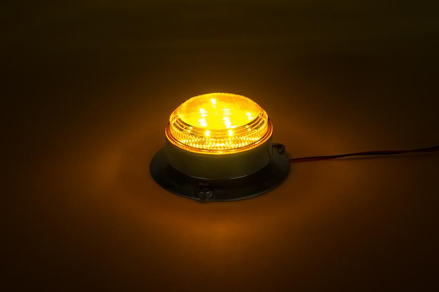 2 1 2 Amber Led Strobe Light Beacon With 8 Leds Super Bright Leds