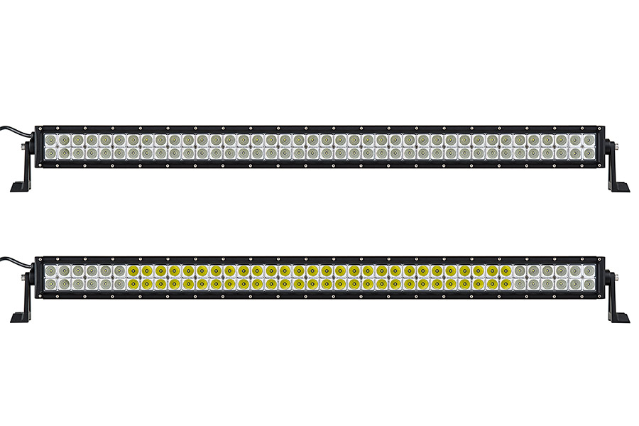 40 off road led light bar 120w 15000 lumens super bright leds 40 off road led light bar 120w showing front view of light bar in flood beam pattern top and combo beam pattern bottom aloadofball Image collections