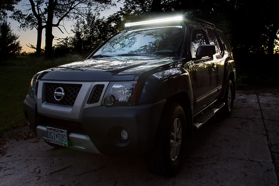 40 off road led light bar 120w 15000 lumens super bright leds 40 off road led light bar 120w shown installed on xterra aloadofball Images