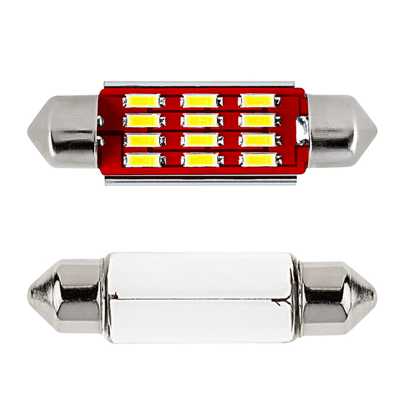 6451 Led Can Bus Bulb 12 Smd Led Festoon 42mm Festoon Base Led Bulbs Led Car Light Bulbs