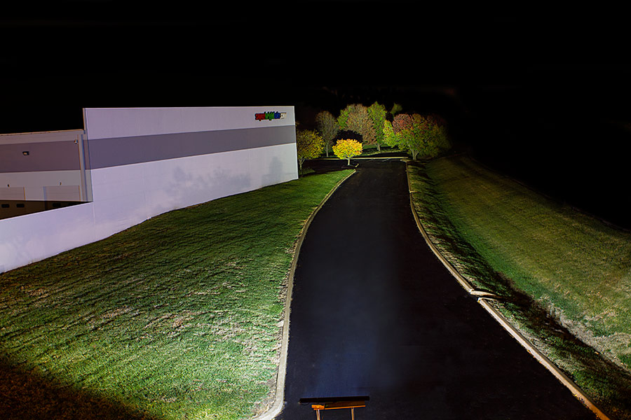 50 off road led light bar with spotflood combo beam 240w led 50 off road led light bar with spotflood multi beam 240w showing beam pattern outside trees are 300 feet away aloadofball Gallery