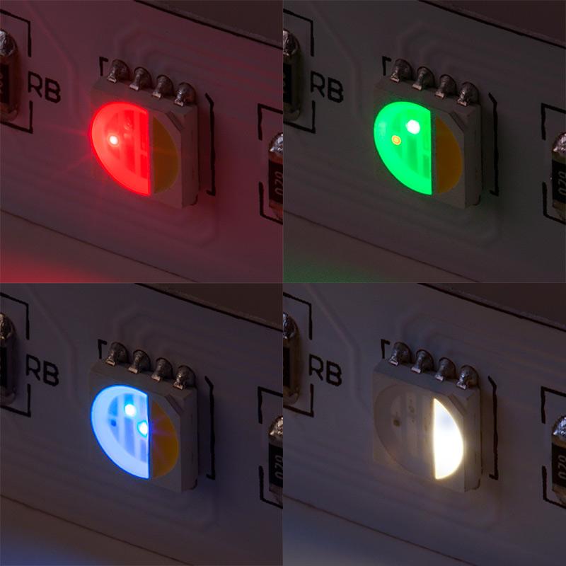rgbw led strip lights 24v led tape light w white and. Black Bedroom Furniture Sets. Home Design Ideas