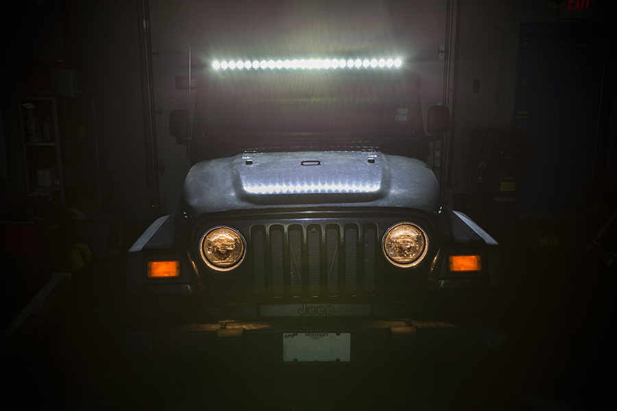 97 2006 jeep tj wrangler led light bar steel a pillar led. Black Bedroom Furniture Sets. Home Design Ideas
