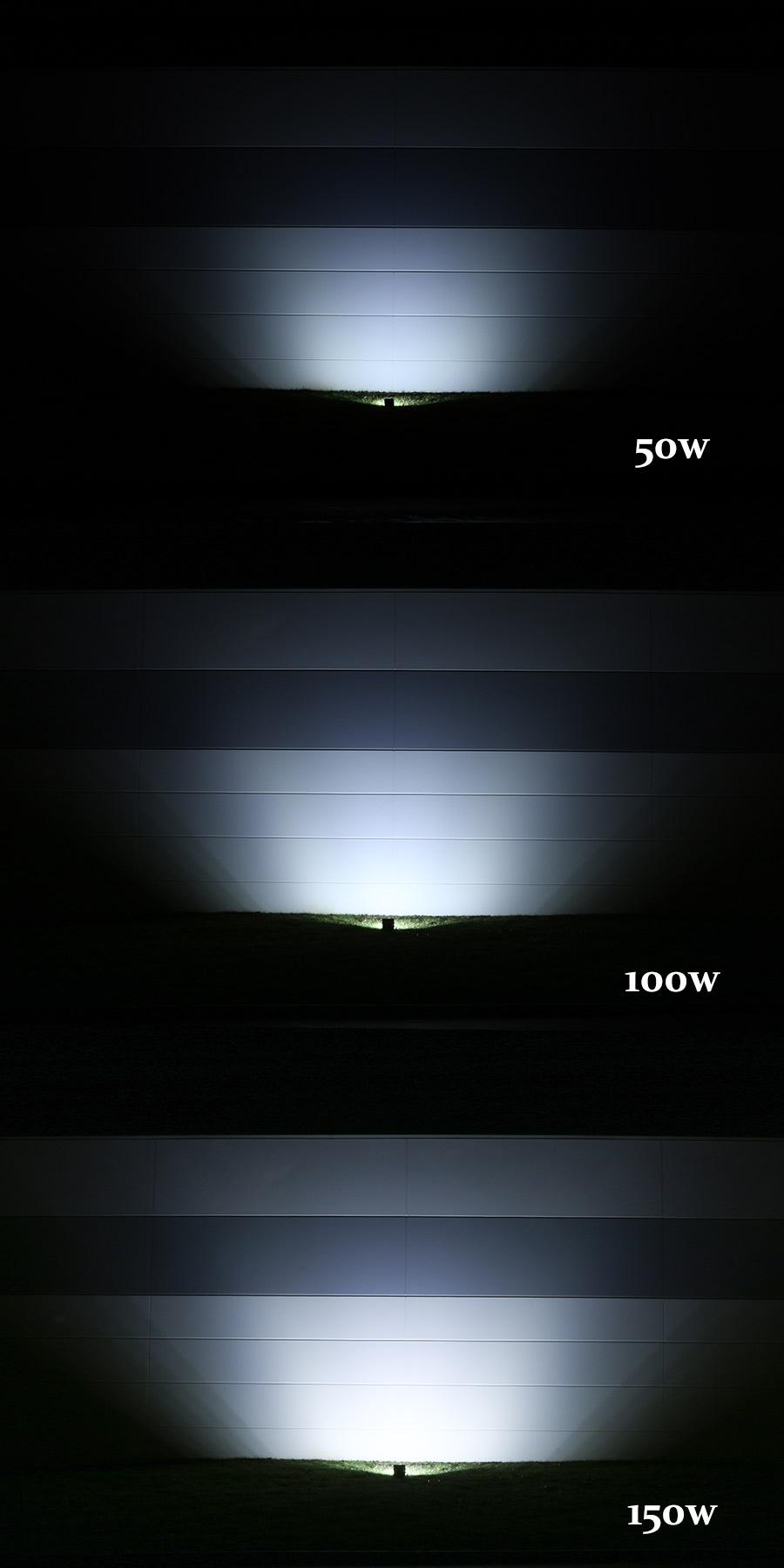 100 watt high power led flood light fixture in natural white led 100 watt high power led flood light fixture in natural white showing beam patterns from approximately 10 arubaitofo Gallery