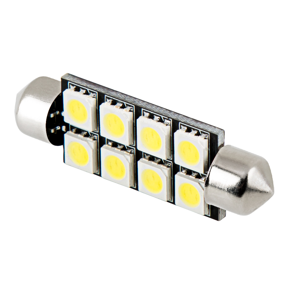 578 Can Bus Led Bulb 8 Led Festoon 44mm Festoon Base Led Bulbs Led Car Light Bulbs