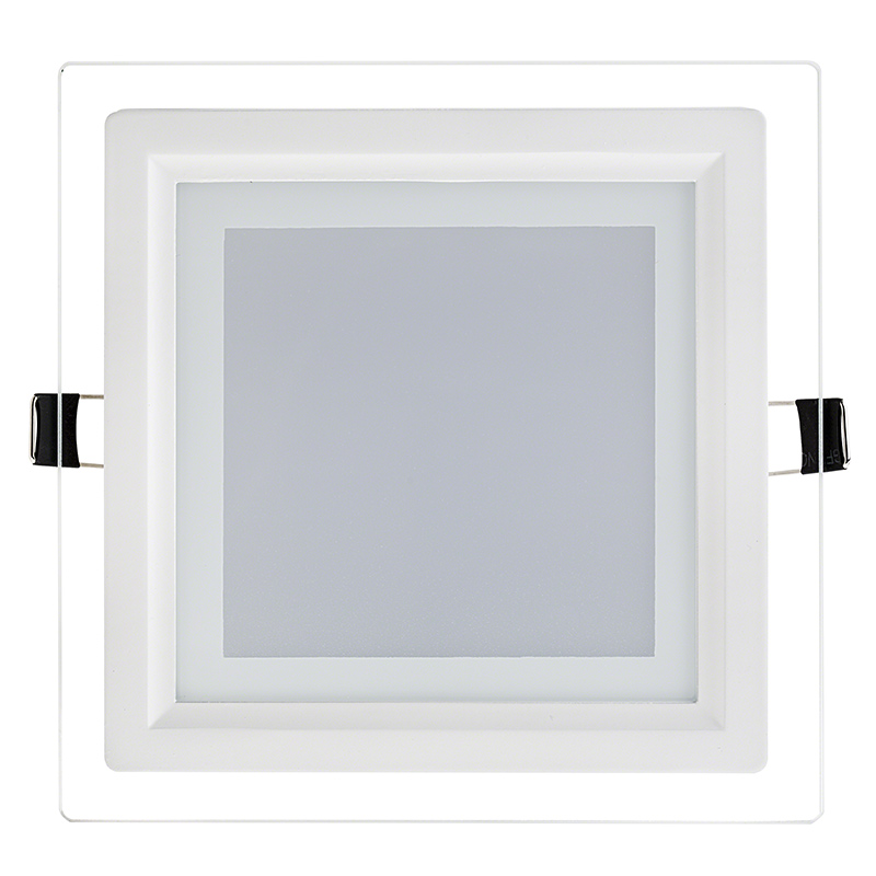6 Square Led Panel Light With Edge Lit Glass Accent Light