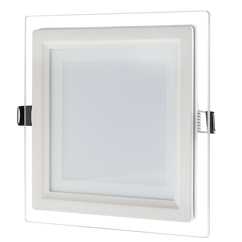 6 square led recessed light w edge lit glass led downlight w 6 square led recessed glass panel light aloadofball Images