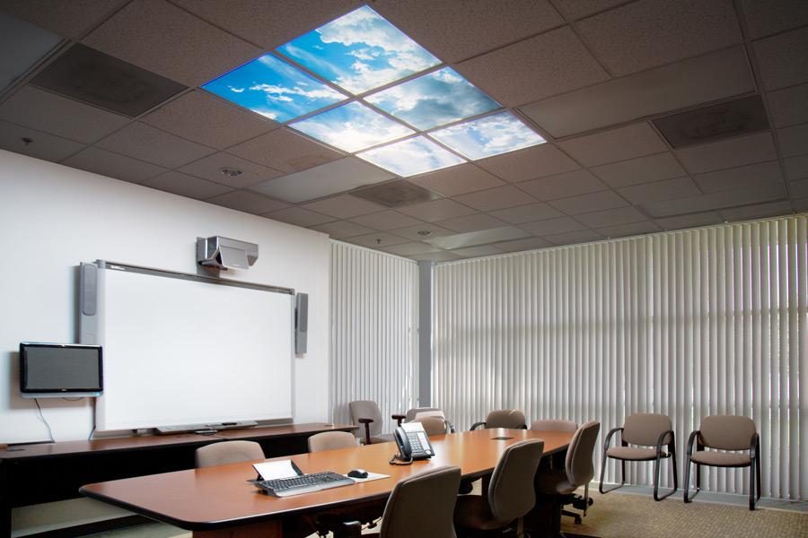 Multi Led Panel Light Display W Skylenses 174 2x2 Dimmable