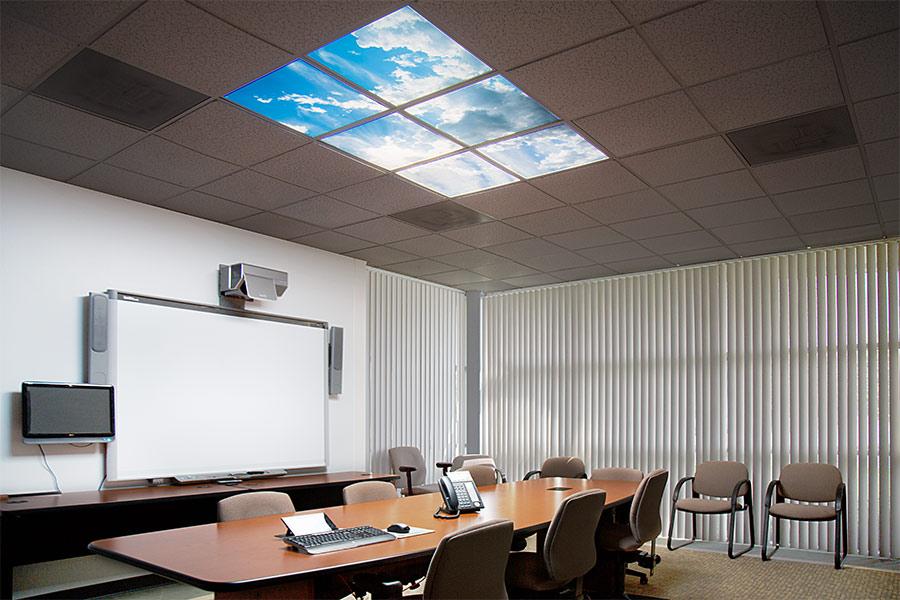 Multi Led Panel Light Display W Skylenses 174 2x4 Dimmable