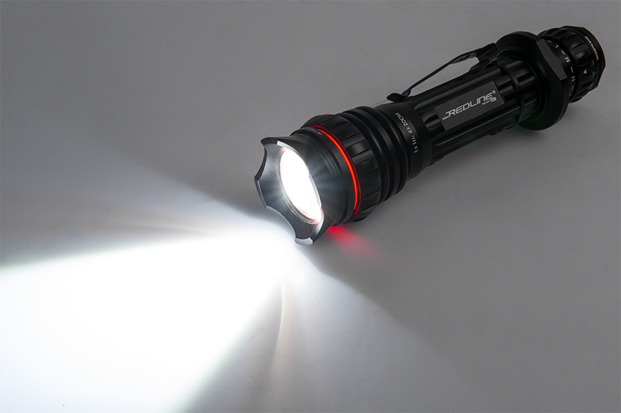led flashlight redline select rc rechargeable tactical flashlight