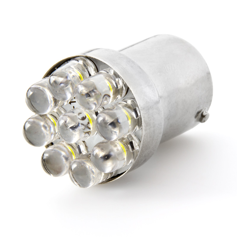 67 Led Bulb 9 Led Forward Firing Cluster Ba15s Retrofit Led Brake Light Turn Light And