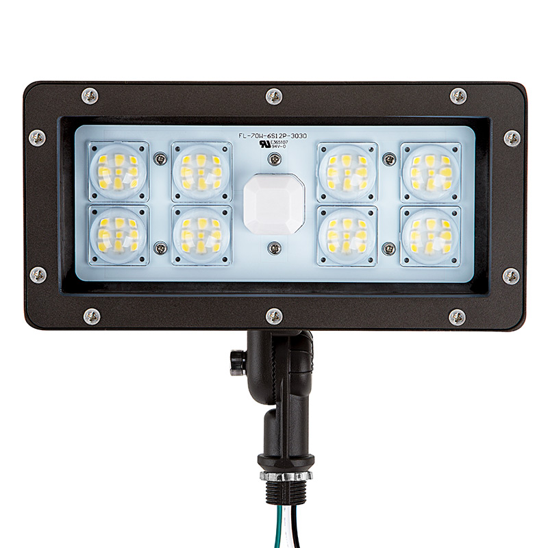 70 Watt Knuckle Mount Led Flood Light 5000k 175 Watt