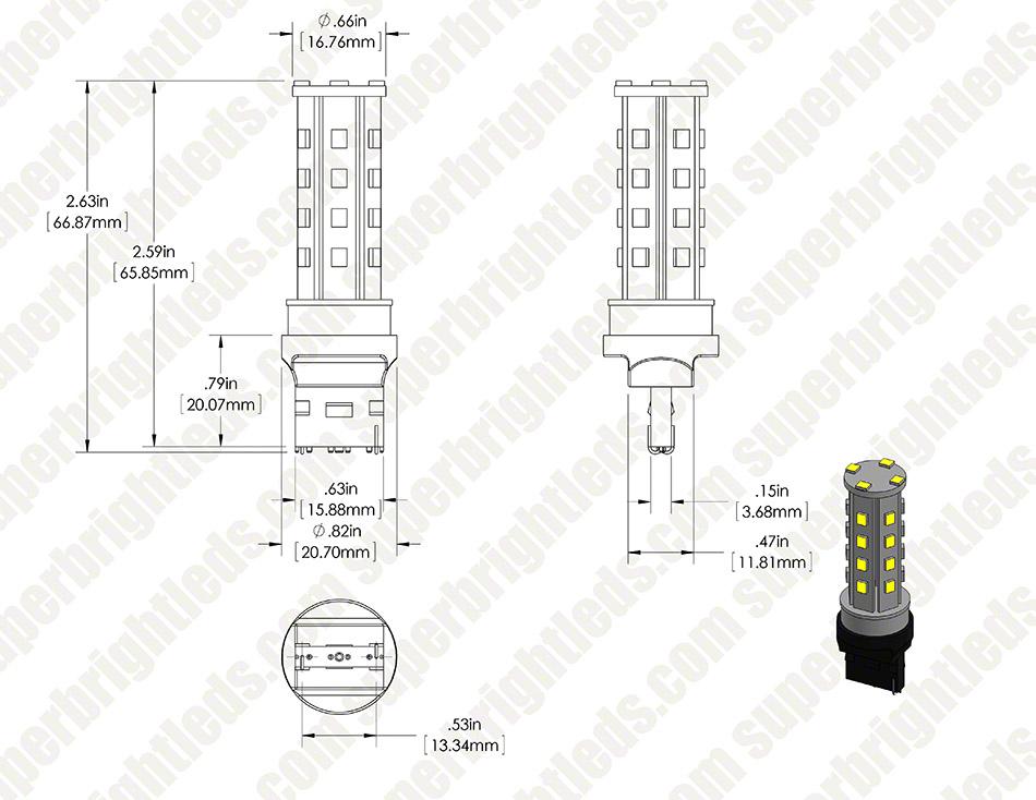 7440 led bulb - 28 high power led