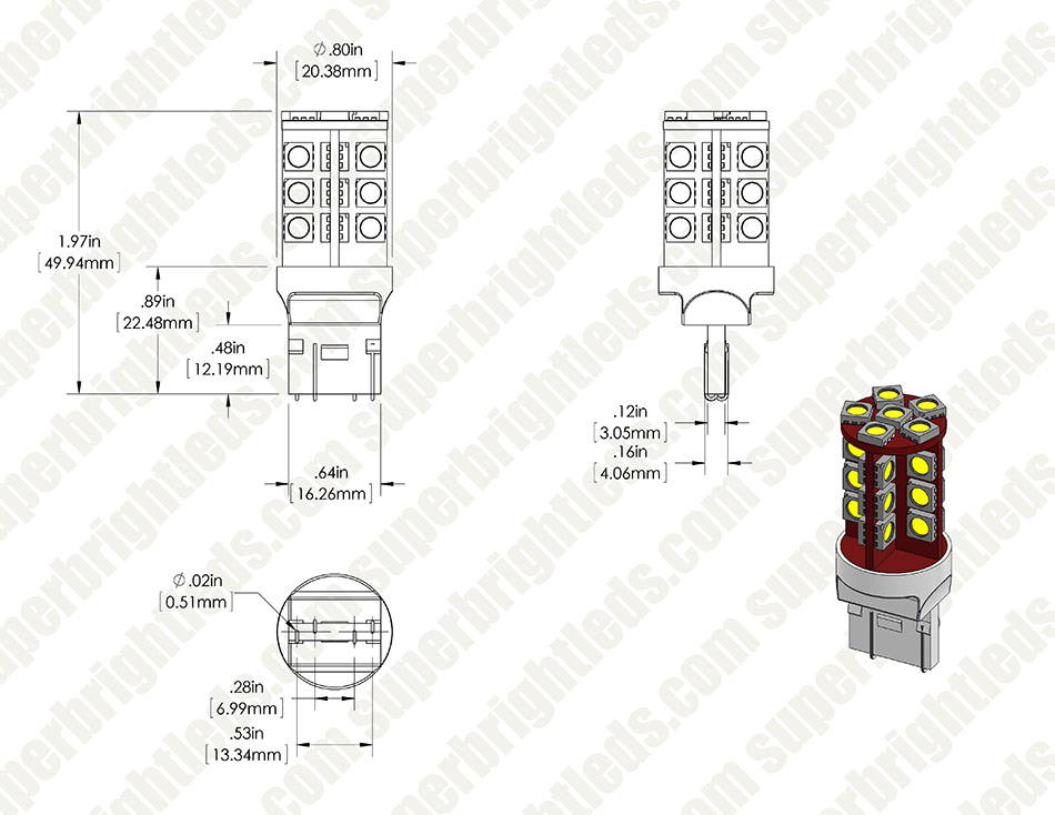 7443 cw30 cbt assembly for site 7440 7443 can bus led bulb dual function 30 smd led tower Basic Electrical Wiring Diagrams at couponss.co