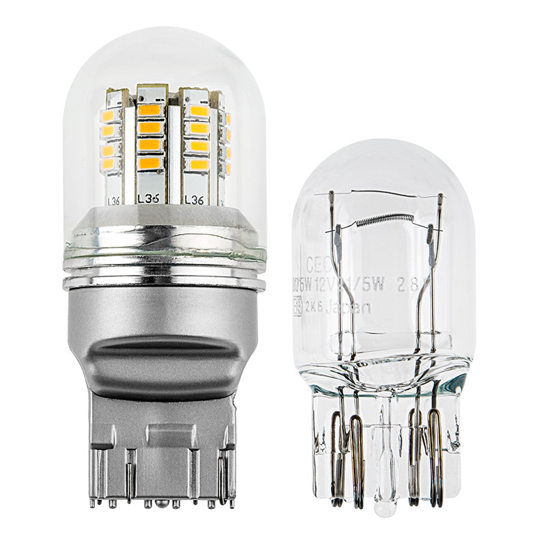 7443 LED Bulb w/ Stock Cover - Dual Function 36 SMD LED Tower ...