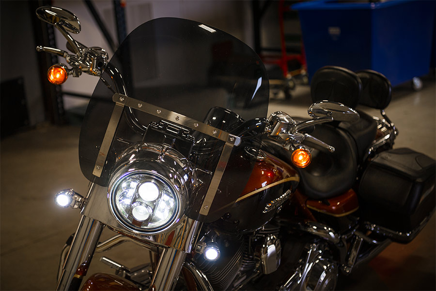 Motorcycle Headlight Socket : Quot round h sealed beam motorcycle headlight led
